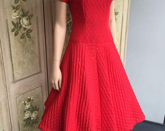 A truly amazing, totally gorgeous 1950s Prom Dress by 'Teena Paige'. Guide size 8-10. * reduced * #B31