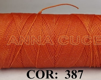 COR: 387 Choose from 10 - 20m waxed thread LINHASITA thick, wire 1mm for macramé, materials.