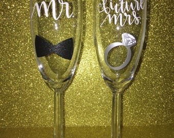 Mr & Future Mrs champagne flutes