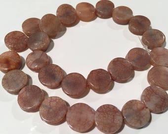 Sandstone beads...Gem Stone...hand cut Bead...Healing Stone....