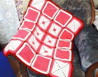 Crochet Baby Blanket Baby Girl Blanket Crochet Blanket Lap Blanket Stroller Blanket Pink Blanket Throw Blanket Baby Shower Gift Baby Girl
