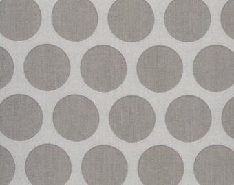 Au maison oilcloth Super dot Grey light grey coated cotton