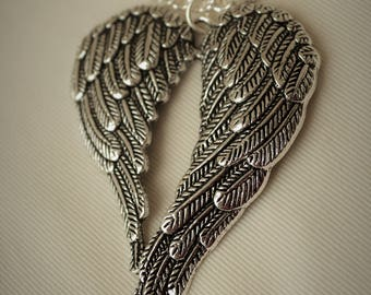 Angel wing necklace,vintage style jewellery,angel jewellery, Turquoise necklace, necklace