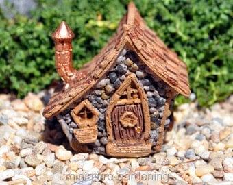 Countryside Gnome Micro House for Miniature Garden, Fairy Garden