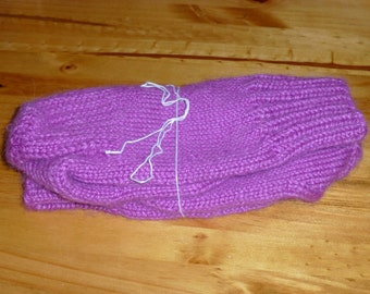 "9"" Hand-knit Wool Socks"