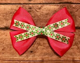 pink flower bow, hair bows, hair clips, girls hair bows, hair bows for girls, boutique bows, kids bows