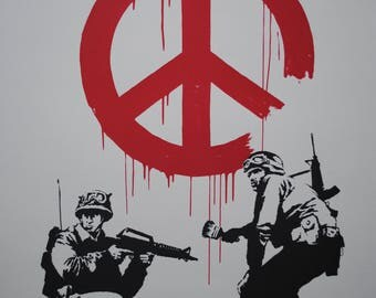 Banksy Street Art with Soldier Poster in different sizes A0-A1-A2-A3-A4-A5-A6 - MAXI ( 91.5 cm by 61 )