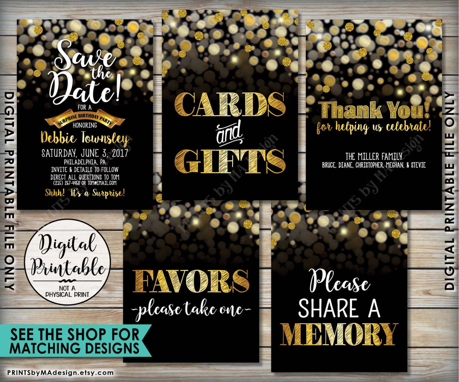 save the date 50th birthday sayings