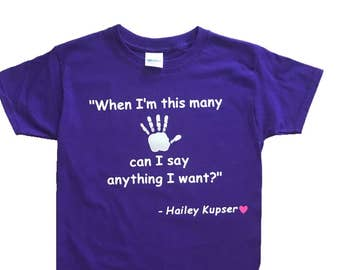 Personalized Quotable Kid T-shirt