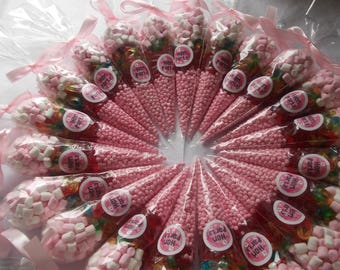 Hen party set of 20 themed pre filled sweet cones Hen Party gift sweet cones Hen party favours