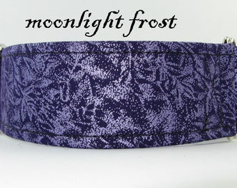 Winter Frost Martingale,Unique Dog Collar, Winter Collar, Blue and Silver Greyhound Collar, Whippet Holiday Collar, Blue and Silver Collar