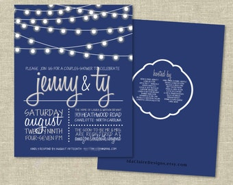 Couples Shower Invitation Digital Download | Whimsical Lights