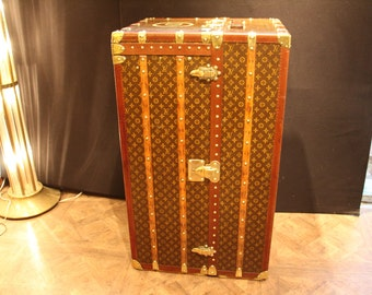 Large Louis Vuitton Wardrobe Steamer Trunk