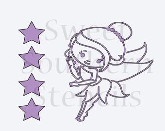 Fairy PYO Cookie Stencil