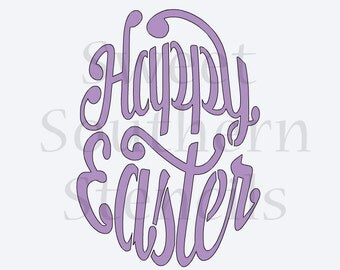 Happy Easter Egg Shape Cookie Stencil (Different Size options!)