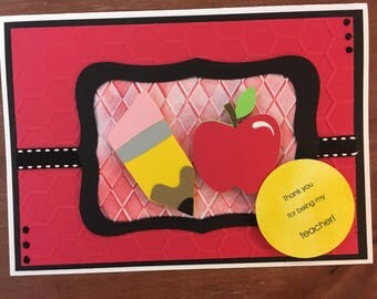 Teacher Appreciation Thank You Card with envelope