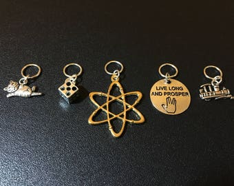Big Bang Theory inspired stitch markers