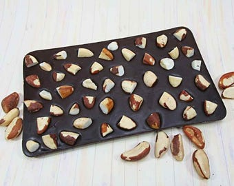 Father's Day Chocolate gift Idea - 500 gram bar with Brazil nuts