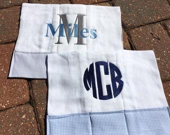 Two Custom Burp Cloths, design your burp cloths