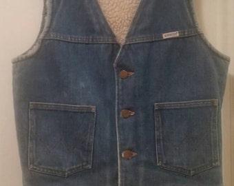 Vintage Wrangle Denim Vest
