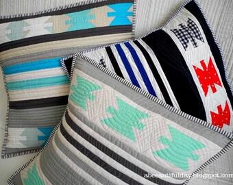 Urban Folk modern pillow cover quilt pattern