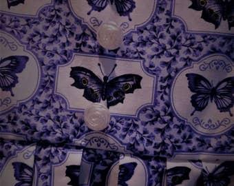 Girls purple dress size 4 years butterfly print
