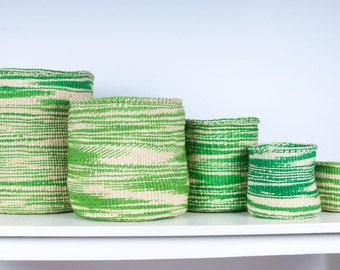 SHAMBA: Green Cloud Woven Storage Basket