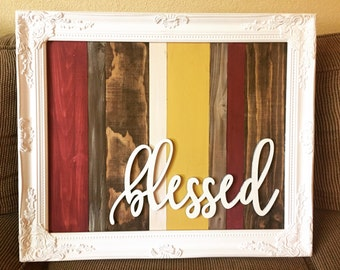 wooden collage + frame