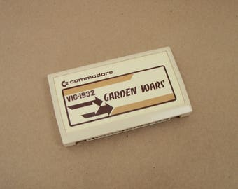 Vintage Commodore VIC-1932 Garden Wars Video Game Cartridge - VIC-20