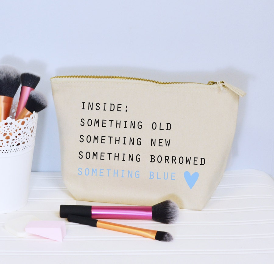 Bride To Be Make Up Bag Something Old New Borrowed Blue