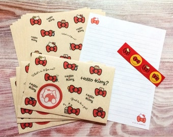 Hello Kitty Stationery Set with Window Envelopes