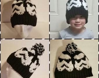 Knit-Look Crochet Star Wars Storm Trooper Hat/Made to Order