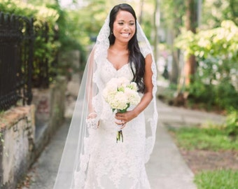 Beautiful Lace Mantilla Veil