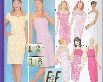 Square Neckline, Empire Waist Peasant Dress/ Simplicity 9557 Womens Boho Gathered Summer Halter Dress UnCut Sewing Pattern/ Size 12 14 16 18