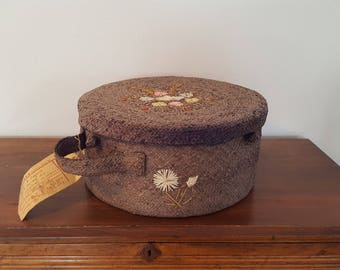 Vintage Wicker Hat Box