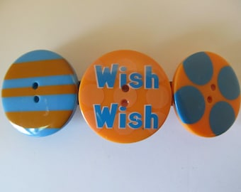 Wish Button Barrette, Birthday Gift, Gifts for her, Gifts for girls, Gifts for teens, Button Barrettes, Hair Accessories, Hair Clips