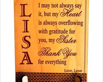 Sister Plaque, Gift for Sister, Gift for Cousin, Christmas Gift for Sister, Birthday Gift for Twin Sister, Sister Present PLS029
