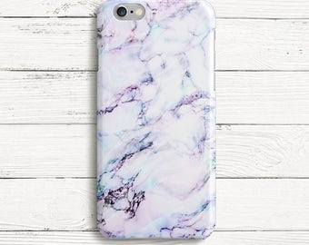 Blue and Purple Marble Phone Case for iPhone 7, iPhone 7 plus, Samsung S7, Samsung S7 edge