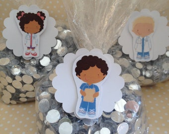 Doctors and Nurses Party Favor or Candy Bags with Tags - Set of 10