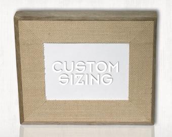 Rustic Burlap Picture Frame