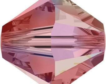 Swarovski Crystal Bicone Beads 5328 - 3mm 4mm 6mm 8mm - Padparadsha AB 2X