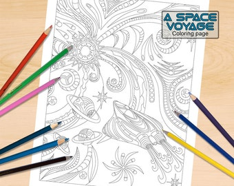 A Pulsing Kaleidoscope Coloring Page