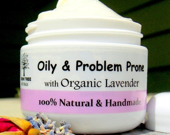 Oily/Problem prone Face moisturizer/ Oily Skin cream - Oily complexion - with or without Sunscreen (1 & 2oz)