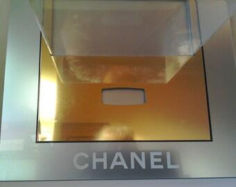 Vintage Chanel Acrylic Shop Store Counter Display Advertising Perfume Sign Prop Interior Design TV