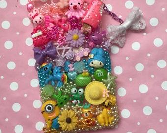 Iphone 7 plus + kawaii phone case decoden bling cute