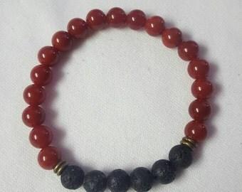 Black & Red men beaded bracelet