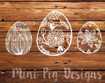 Hand drawn Easter Egg SVG's