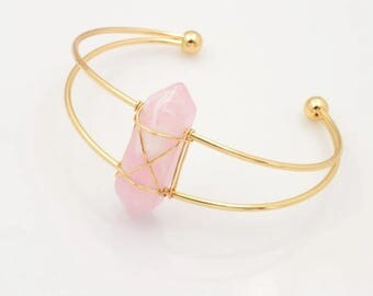 Pink Stone Cuff