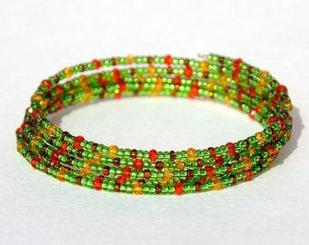 Bohemian wrap bracelet 5x wrap Boho jewelry Boho bracelet Memory Wire Bracelet Summer Jewelry Summer bracelet Womens bracelet Womens jewelry