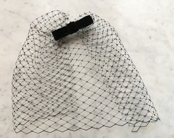 Fascinator veil black